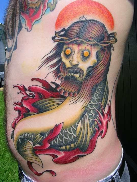 zombie jesus fish tattoo « MyConfinedSpace
