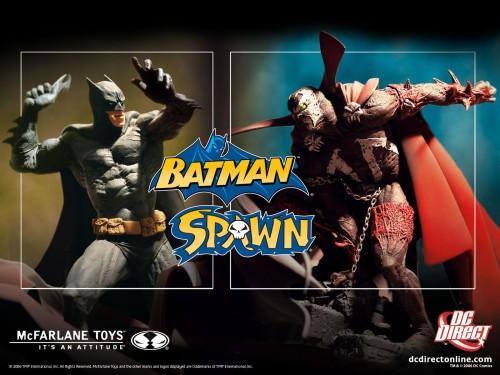 Batman Vs Spawn Statues 500x375 Batman Vs Spawn Statues Toys Comic Books