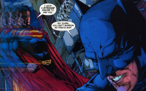 Superman wants batmans pirate ship 500x312 Superman wants batmans pirate ship wtf Comic Books