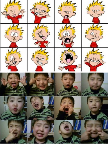calvin faces 375x500 calvin faces Humor