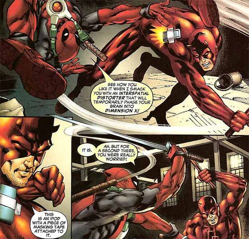 deadpool uses an interspatial distorter
