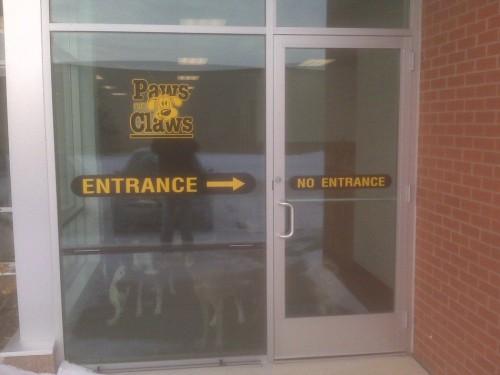 entrance - no entrance
