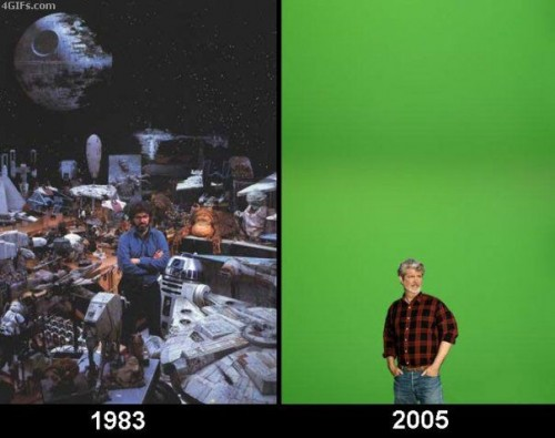 george lucas 1983 vs 2005