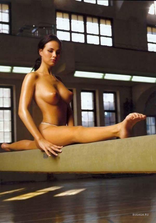 Naked balance beam pic