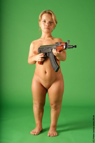 nsfw - nude midget with ak-47