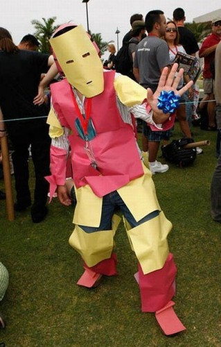 paper iron man cosplayer