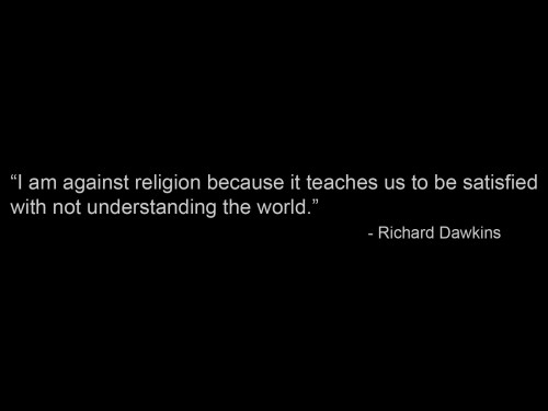 richard dawkins on why he's against religion