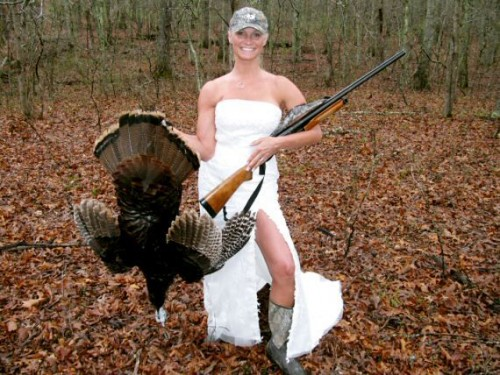 turkey hunt bride