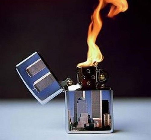 twin towers lighter