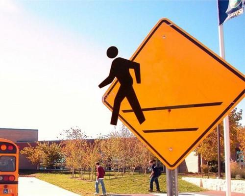 walking man sign