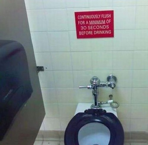 flush for 30 seconds before drinking