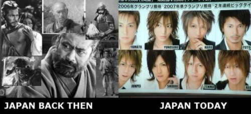 japan then and now