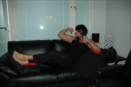 muscular woman