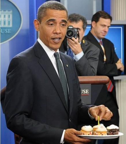 obama has cupcakes