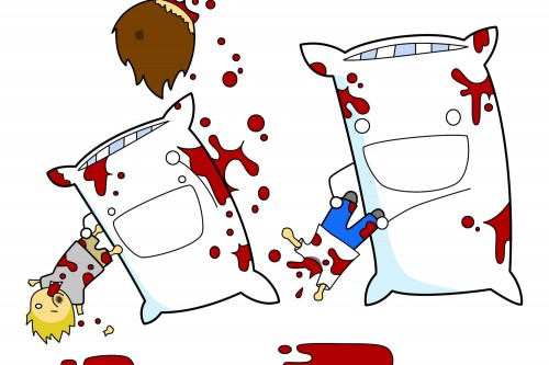 pillow people fight