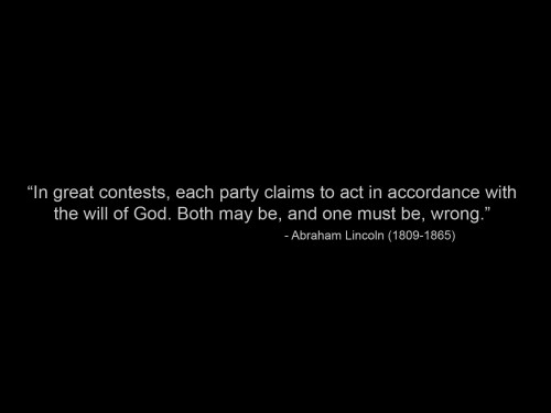 abraham lincoln on the accorance of god's will