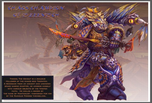 chaos champion of tzeentch 500x339 chaos champion of tzeentch Warhammer 40k Wallpaper