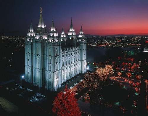 mormon temple 500x390 mormon temple Wallpaper Religion architecture