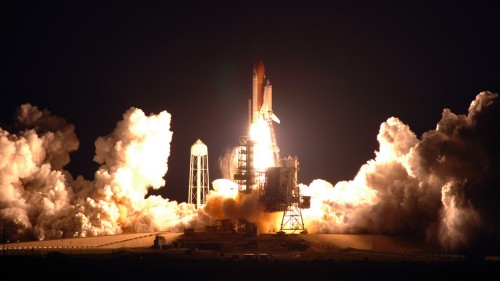 shuttle nigght launch