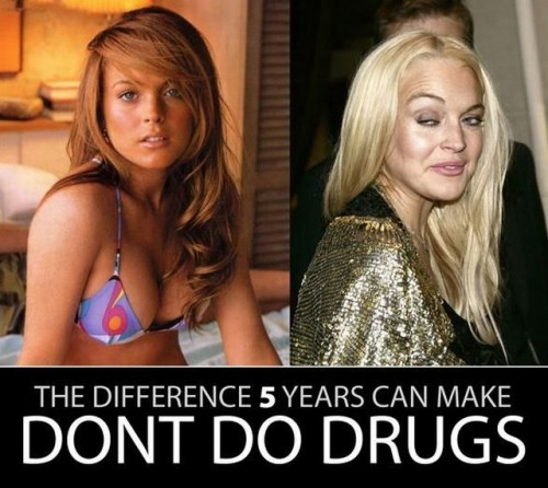 the difference 5 years makes lindsey lohan 500x446 the difference 5 years makes   lindsey lohan lindsey lohan Humor 420