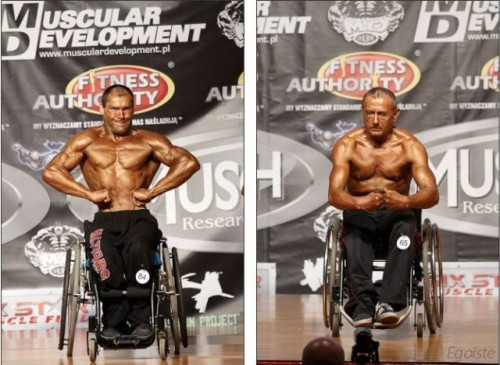 wheel chair muscle man