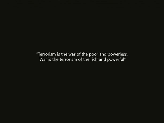 terrorism vs war
