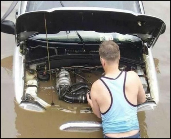 Flooded Engine