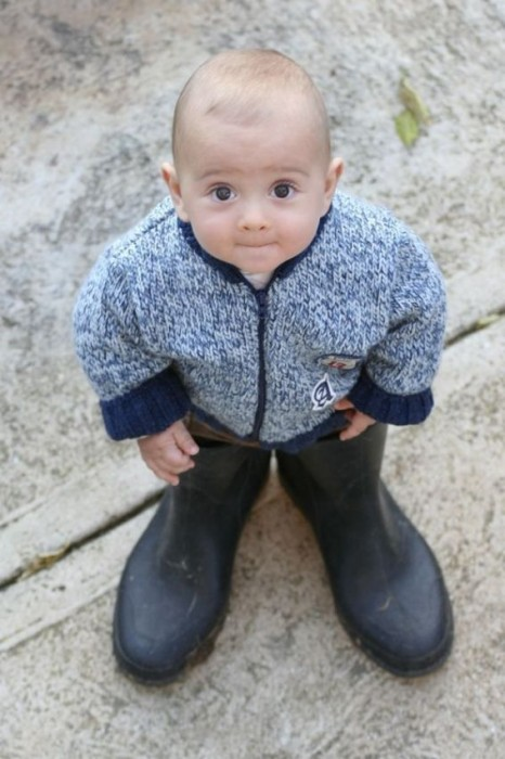 baby in boots