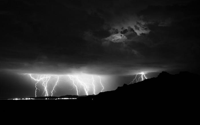 black and white lightening