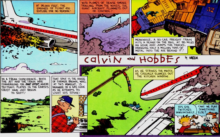 calvin and hobbes - terrible disaster