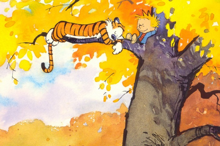 calvin and hobbes tree rest 700x467 calvin and hobbes   tree rest Wallpaper calvin and hobbes