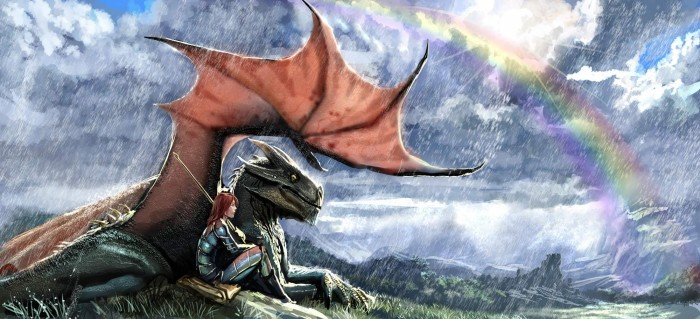 dragon rainbow