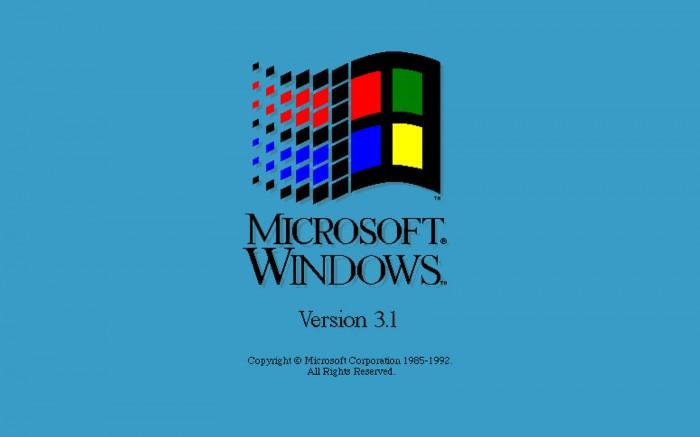 microsoft windows 3.1 load screen