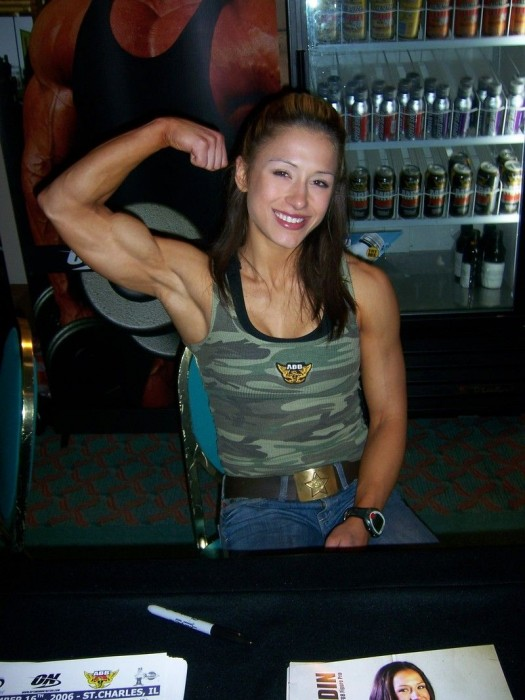 muscled woman