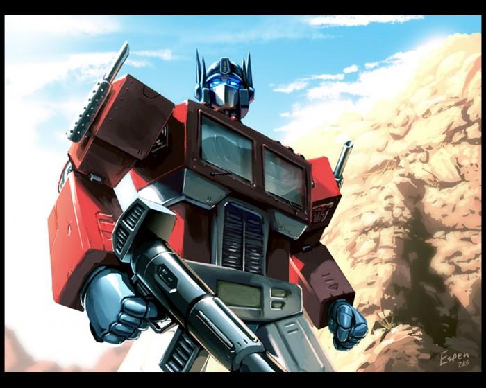 optimus prime flexes