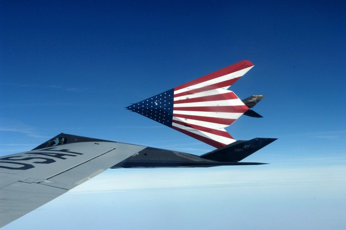 patriotic stealth fighter 700x465 patriotic stealth fighter Wallpaper Military fourth of the july