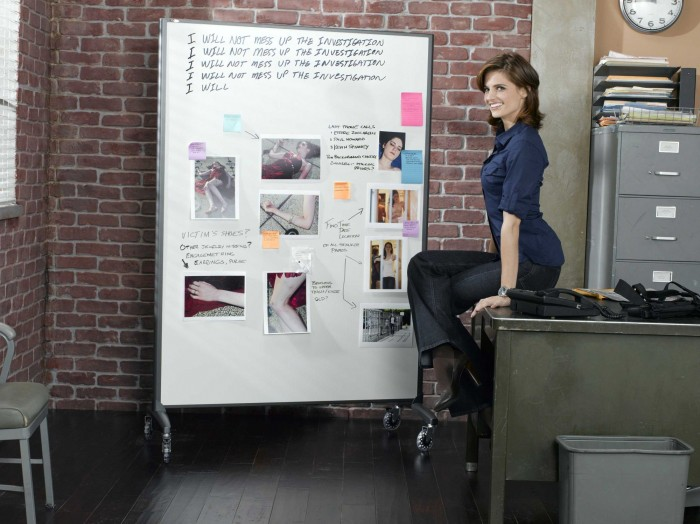 stana katic castle promo pictures 700x524 stana katic   castle promo pictures Wallpaper Television stana katic Sexy Castle