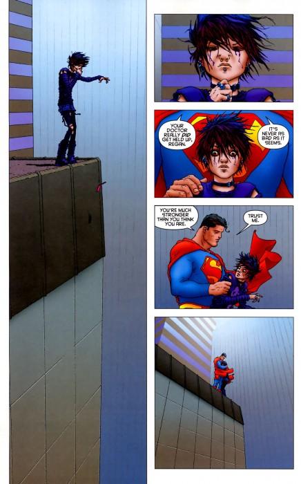 superman saves a suicide slut