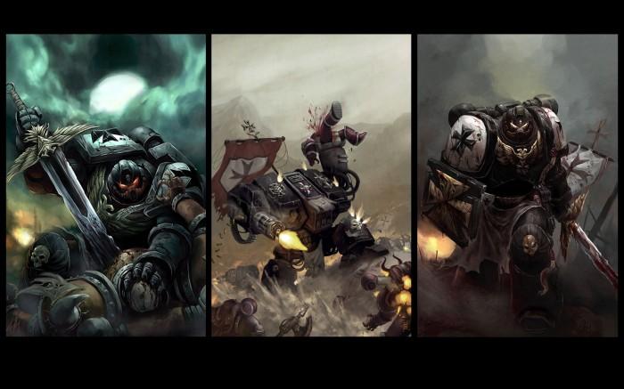 Warhammer 40000 Wallpaper. three warhammer space marines
