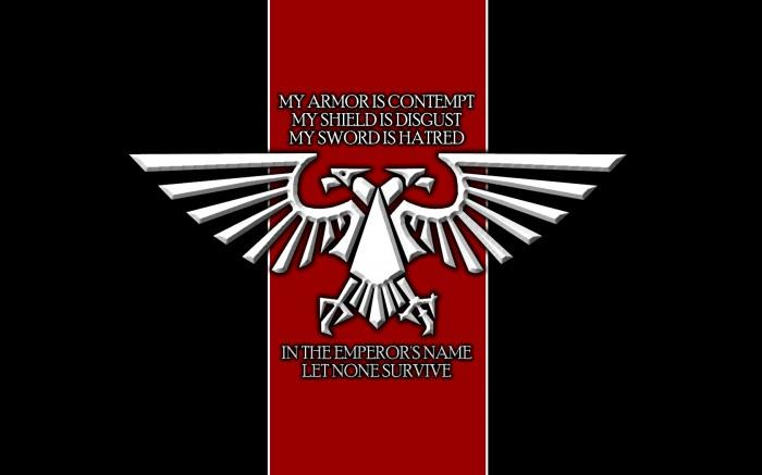 warhammer 40k slogan
