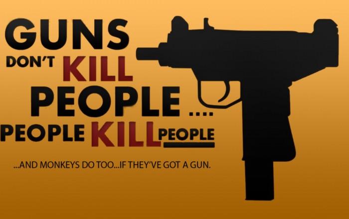 guns don't kill people, also - monkeys