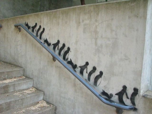 penguin graffiti