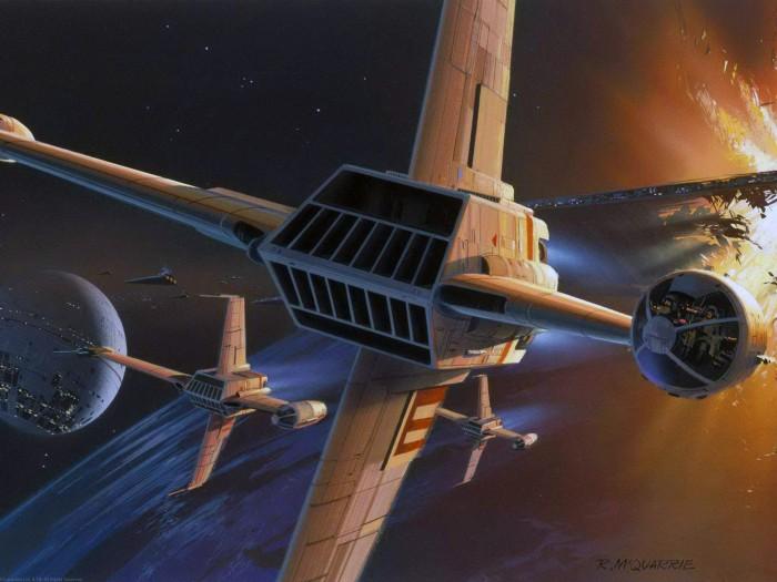 star wars concept art - y wing
