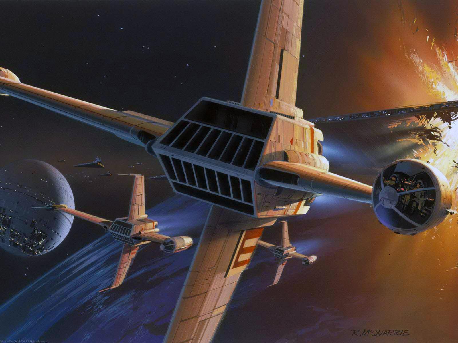star wars concept art – y wing