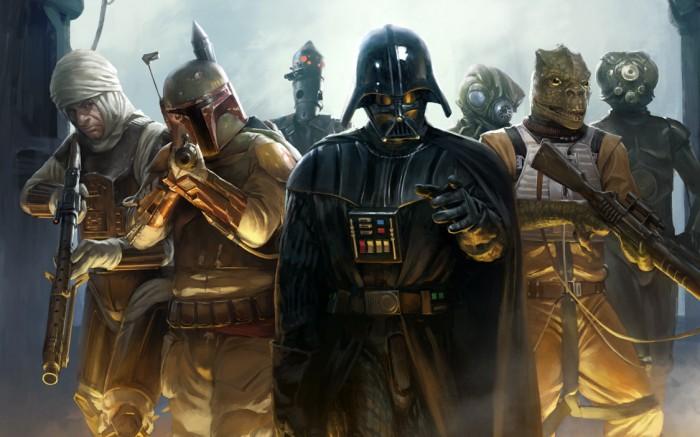 darth vader and bounty hunters