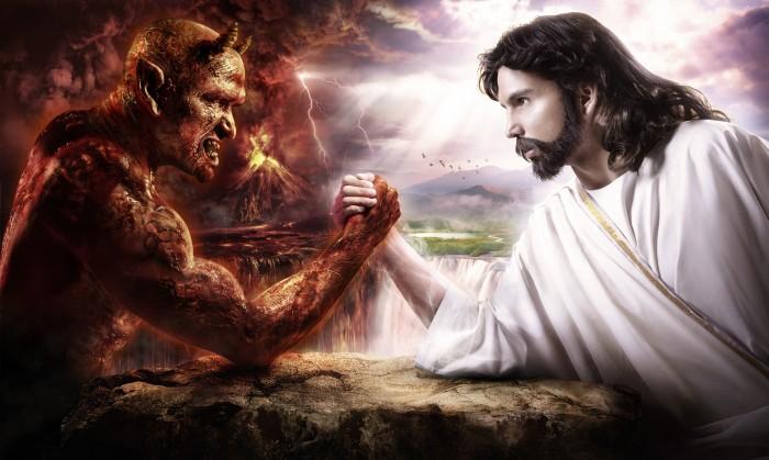 jesus vs demon
