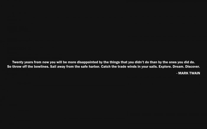 mark twain on what youll regret in 20 years 700x437 mark twain on what youll regret in 20 years Wallpaper Quotes Humor
