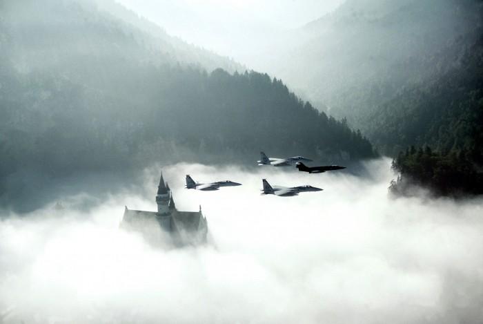 F-15 F-104 over Neuschwanstein 1982