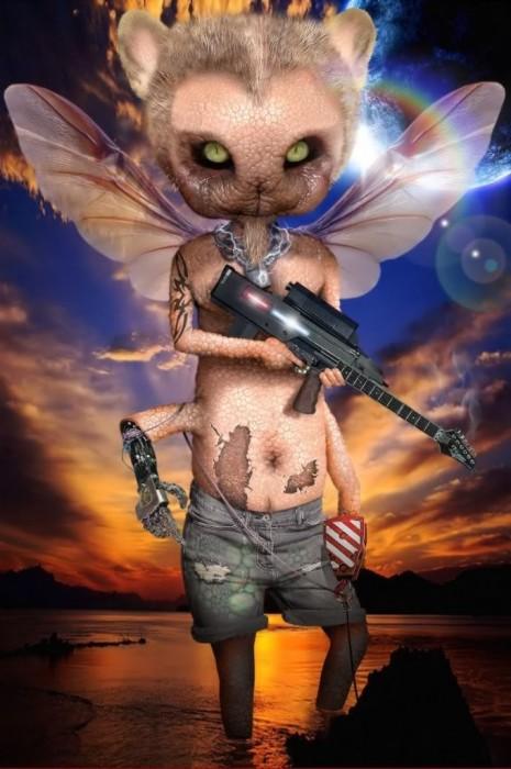 alien kitty trooper