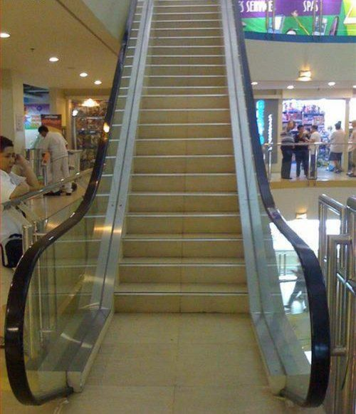 escalator stairs escalator stairs wtf Visual Tricks Technology Humor